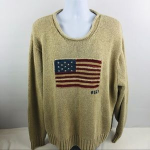 Polo Ralph Lauren Mens American Flag 67 Sweater